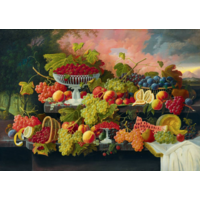 thumb-Severin Roesen - Stilleven met fruit - 1000 stukjes-1