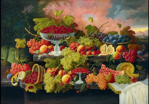 Bluebird Puzzle Severin Roesen - Nature morte aux fruits - 1000 pièces