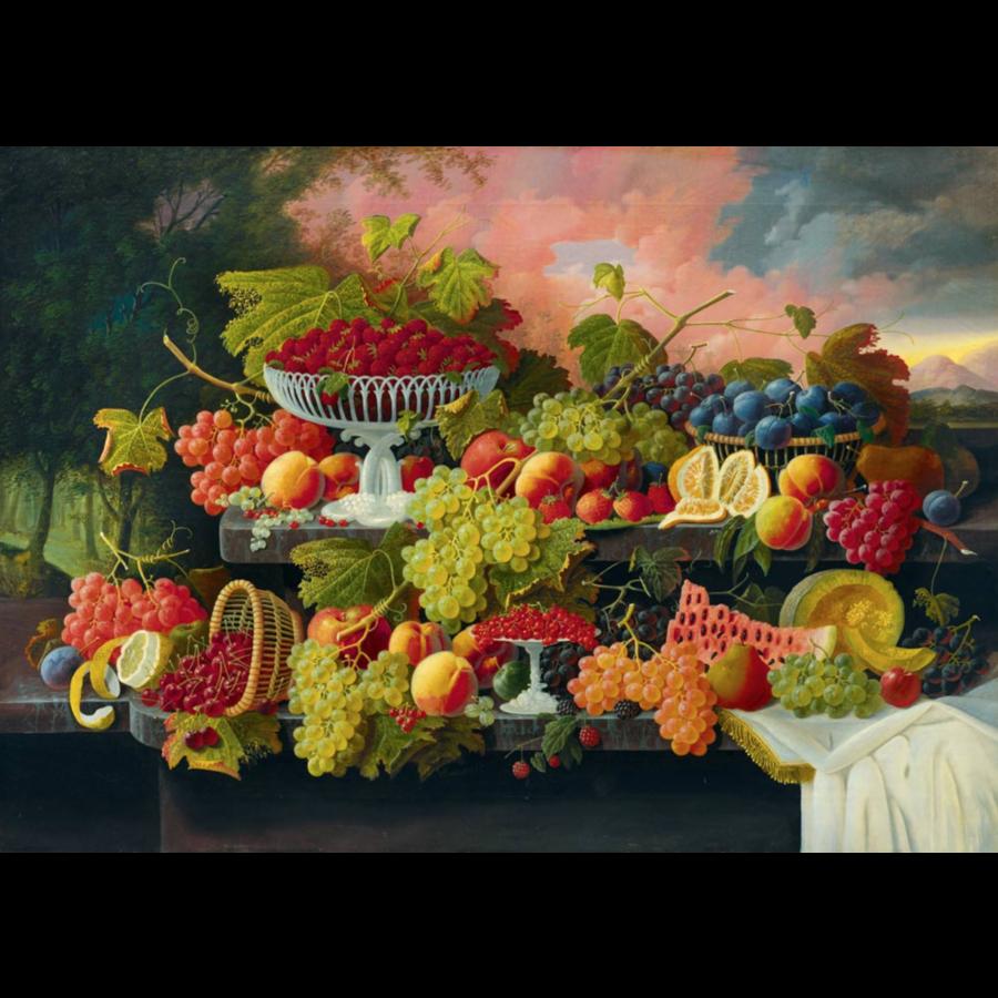 Severin Roesen - Stilleven met fruit - 1000 stukjes-1