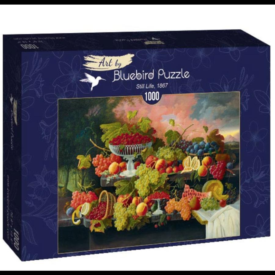 Severin Roesen - Stilleven met fruit - 1000 stukjes-2