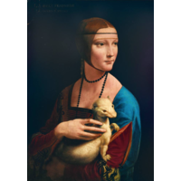 thumb-Leonardo Da Vinci - La Dame à l'hermine - 1000 pièces-1