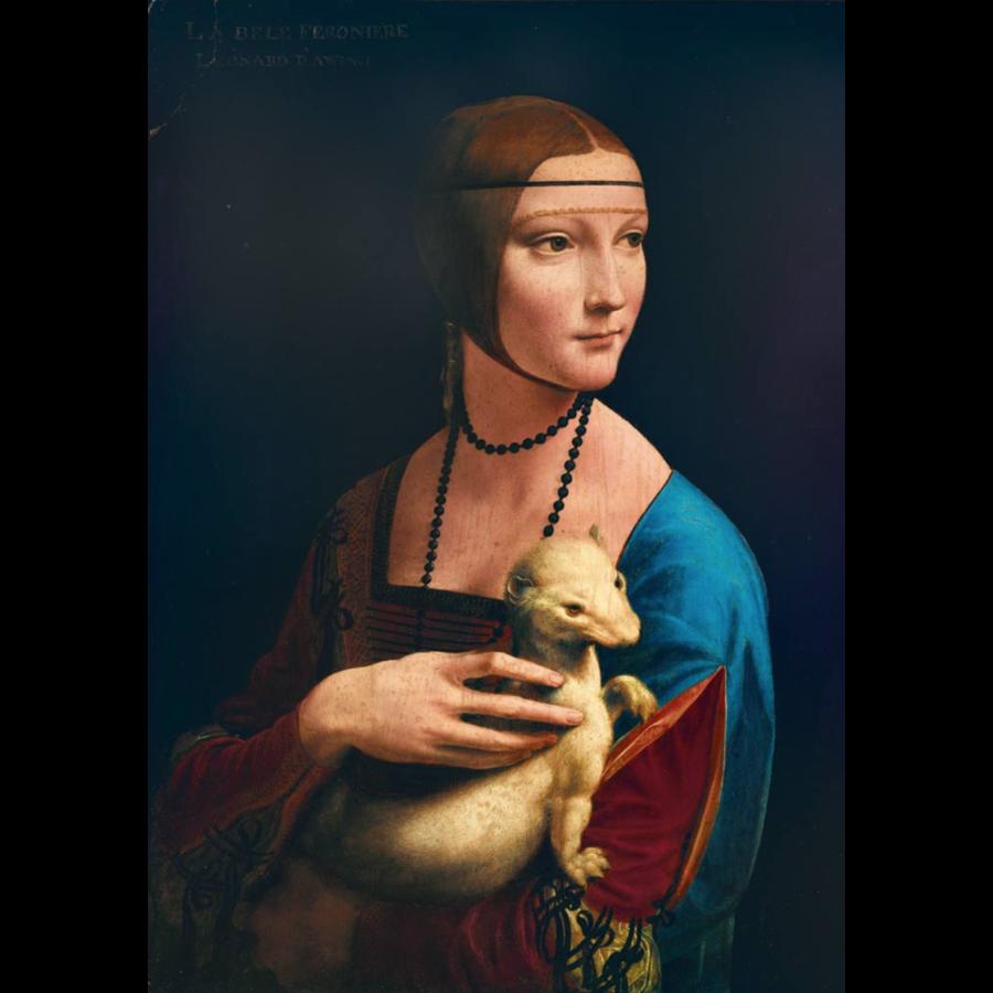 Leonardo Da Vinci - Dame met de Hermelijn - 1000 stukjes-1