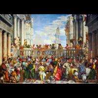 thumb-Paolo Veronese - De bruiloft te Kana - 1000 stukjes-1