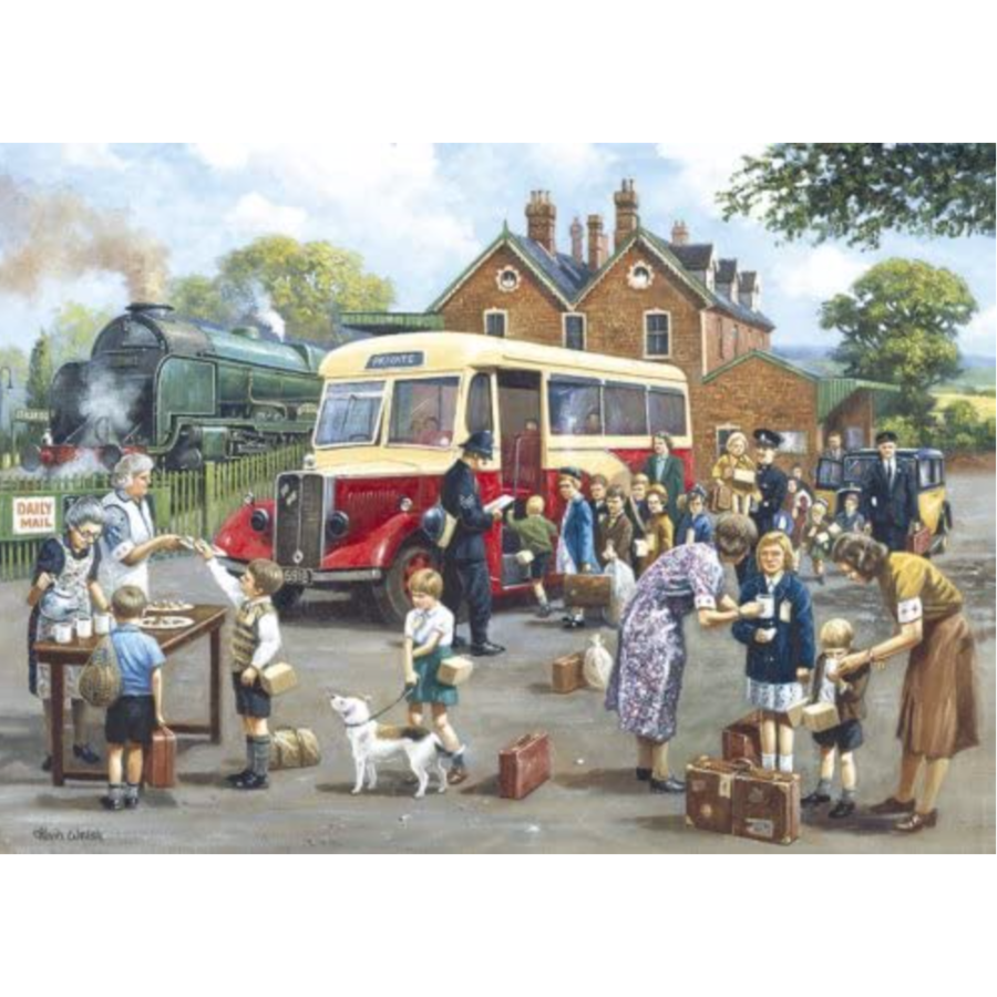 The Evacuees - 1000 piece jigsaw puzzle-1