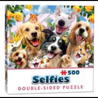 thumb-Vriendjes Selfie- 500 stukjes - dubbelzijdige puzzel-1