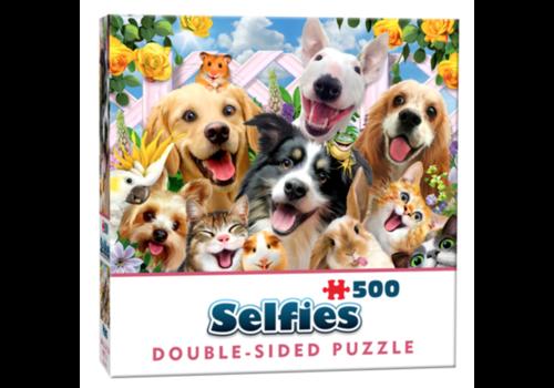 Cheatwell Vriendjes Selfie - 500 stukjes - dubbelzijdige puzzel