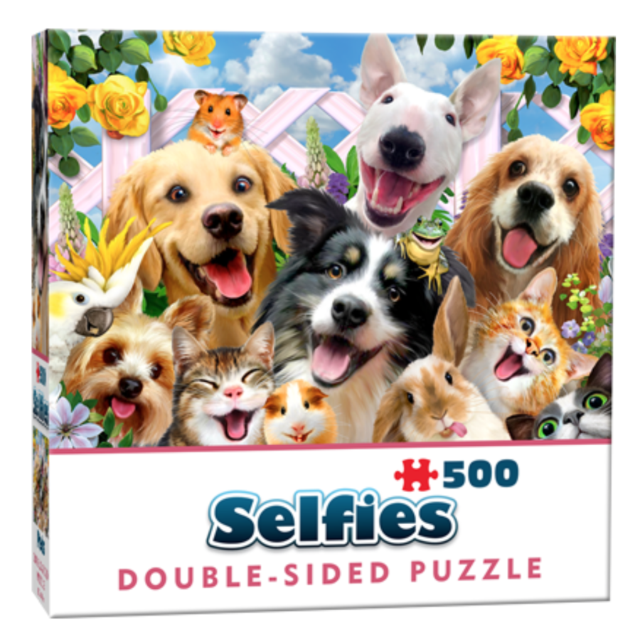 Buddies selfie - 500 pieces - double-sided puzzle-1