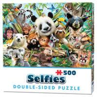 thumb-Jungle selfie - 500 pieces - double-sided puzzle-1