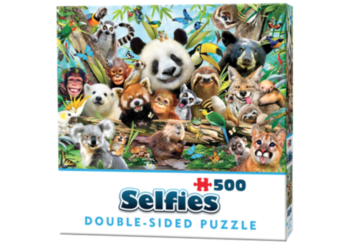 Cheatwell Jungle selfie - 500 pieces - double-sided puzzle