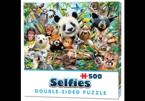 Cheatwell Jungle Selfie - 500 stukjes - dubbelzijdige puzzel
