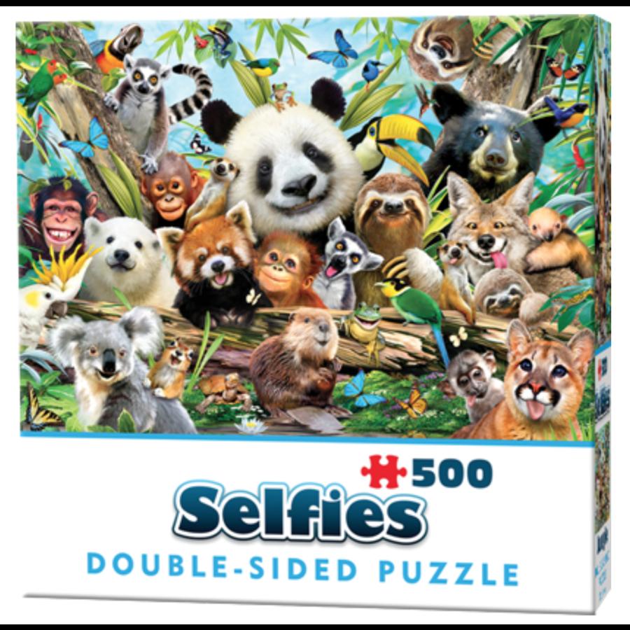 Jungle Selfie- 500 stukjes - dubbelzijdige puzzel-1