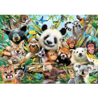 thumb-Jungle selfie - 500 pieces - double-sided puzzle-2