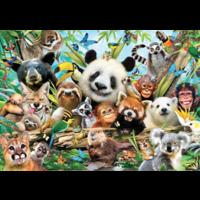 thumb-Jungle Selfie- 500 stukjes - dubbelzijdige puzzel-2