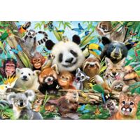 thumb-Jungle selfie - 500 pieces - double-sided puzzle-3