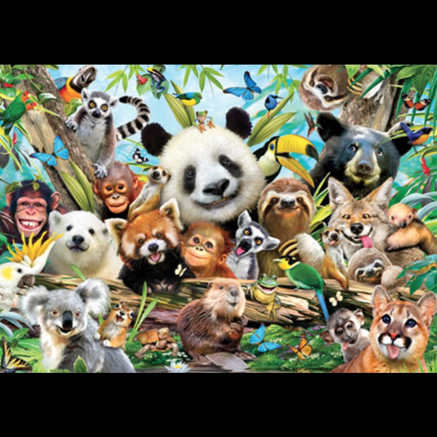 Jungle Selfie- 500 stukjes - dubbelzijdige puzzel-3