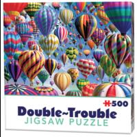 thumb-Montgolfières - 500 pièces - puzzle double face-1