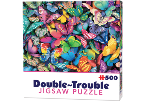 Cheatwell Papillons - 500 pièces - puzzle double face