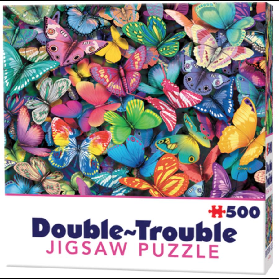 Papillons - 500 pièces - puzzle double face-1
