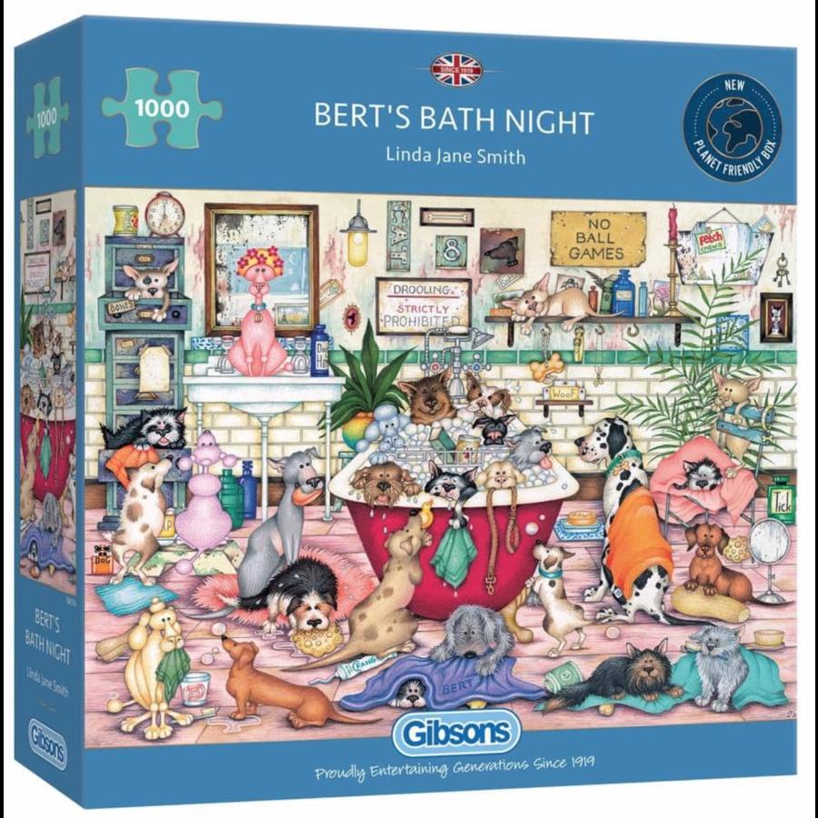 Bert's Bath Night - puzzel van 1000 stukjes-1