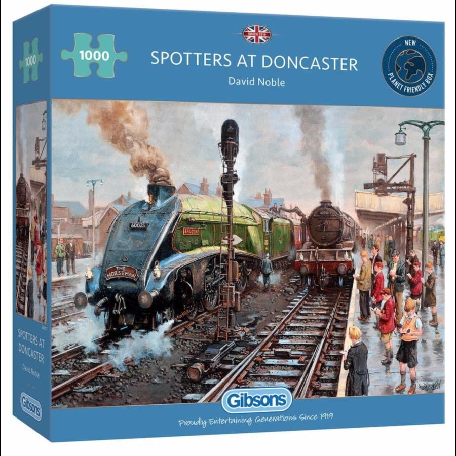 Treinspotters in Doncasters - puzzel van 1000 stukjes-1