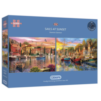thumb-Sails at Sunset - 2 puzzles de 500 pièces-1