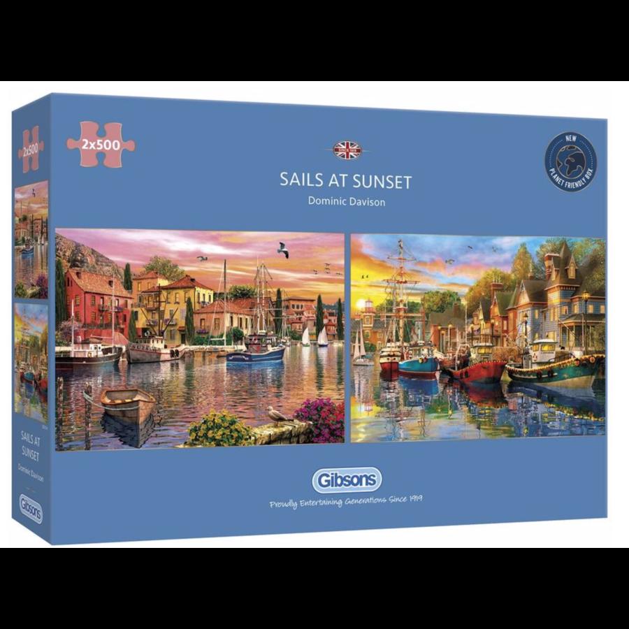 Sails at Sunset - 2 puzzles de 500 pièces-1