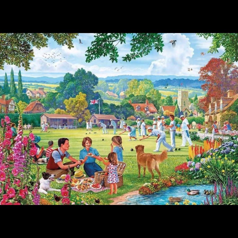 Bowling en Picknick - puzzel van 500  stukjes-2