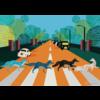 Gibsons Abbey Road Foxes - puzzel van 500  stukjes