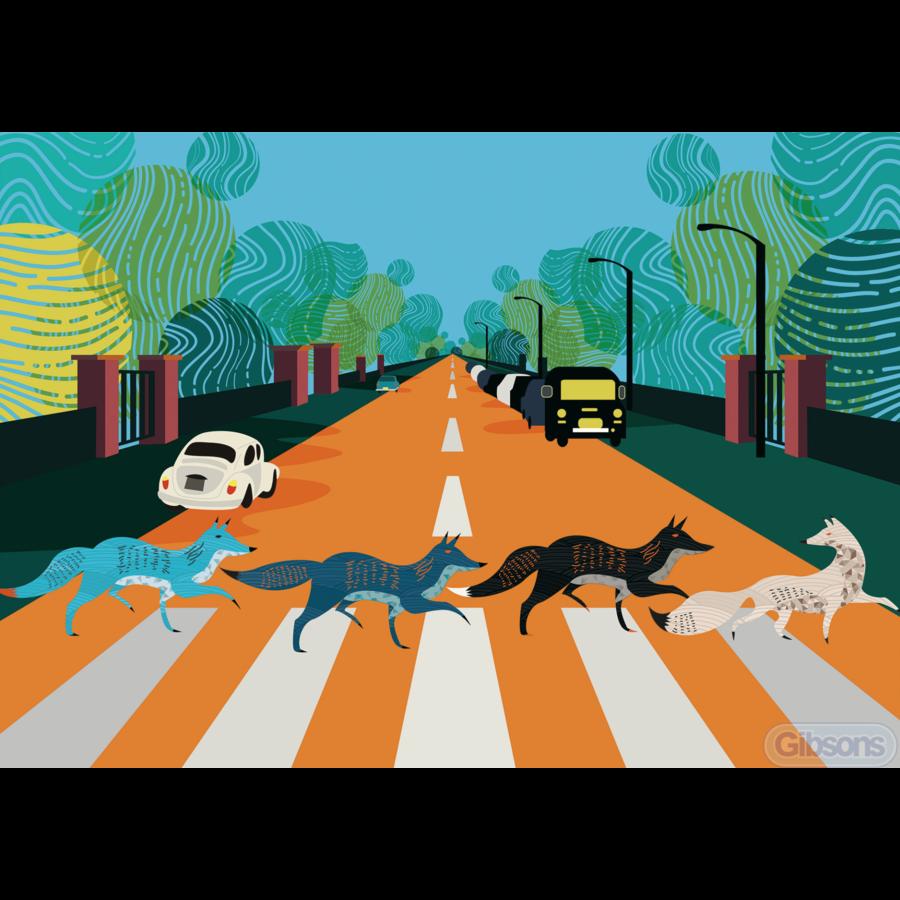 Abbey Road Foxes - puzzel van 500  stukjes-1