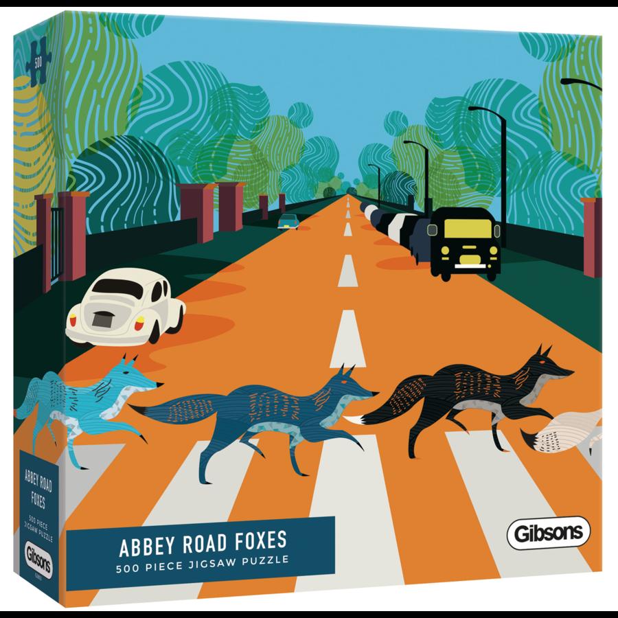 Abbey Road Foxes - puzzel van 500  stukjes-2