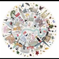 thumb-Buildings of London - ronde puzzel van 500  stukjes-2