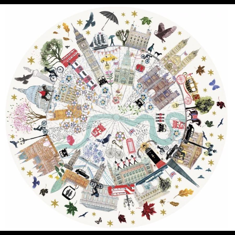 Buildings of London - ronde puzzel van 500  stukjes-2