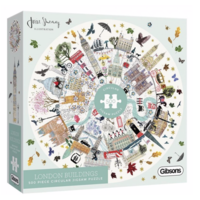 thumb-Buildings of London - ronde puzzel van 500  stukjes-1