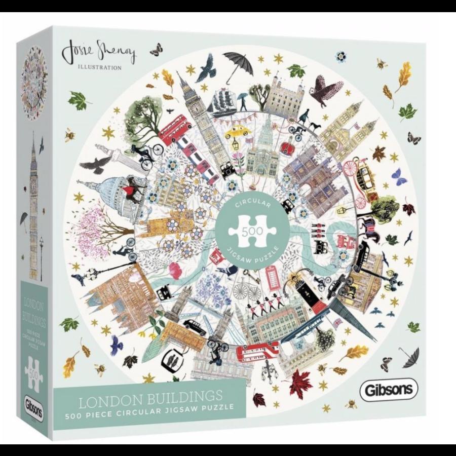Buildings of London - ronde puzzel van 500  stukjes-1