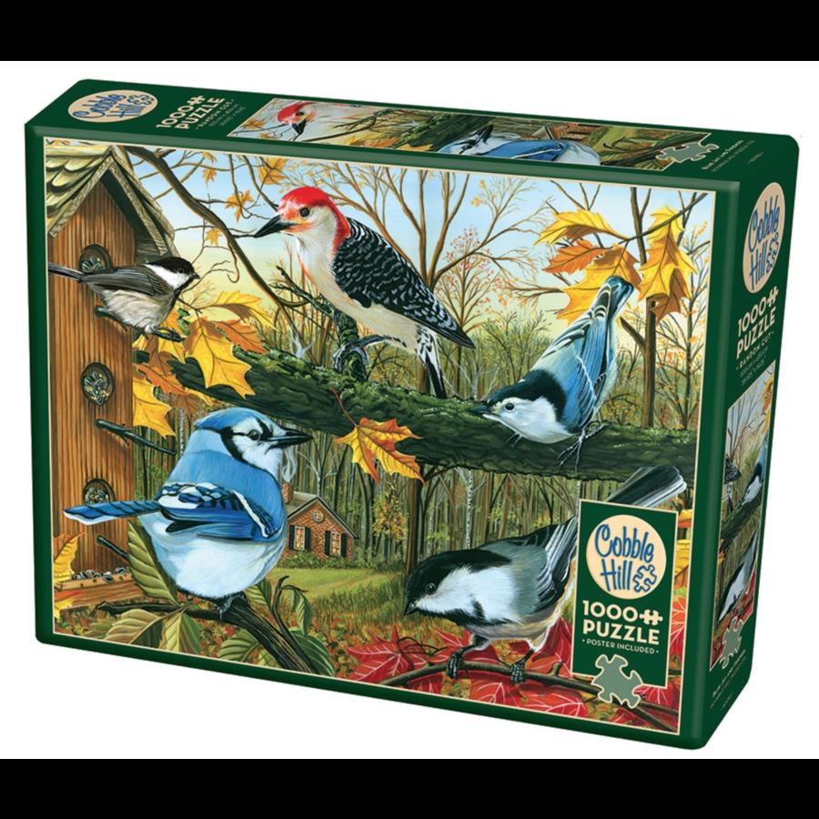 De blauwe kaai en vrienden - puzzel van 1000 stukjes-1