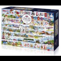 thumb-Cream Teas & Queuing - puzzel van 1000 stukjes-1