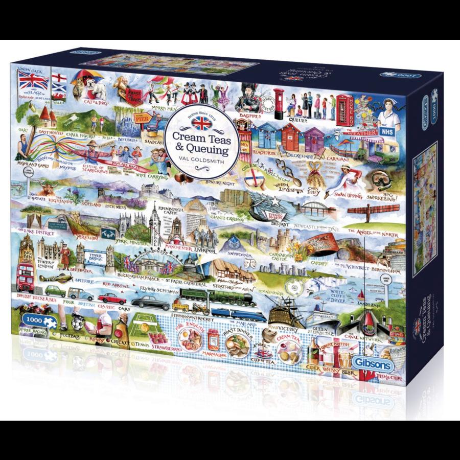 Cream Teas & Queuing - puzzel van 1000 stukjes-1