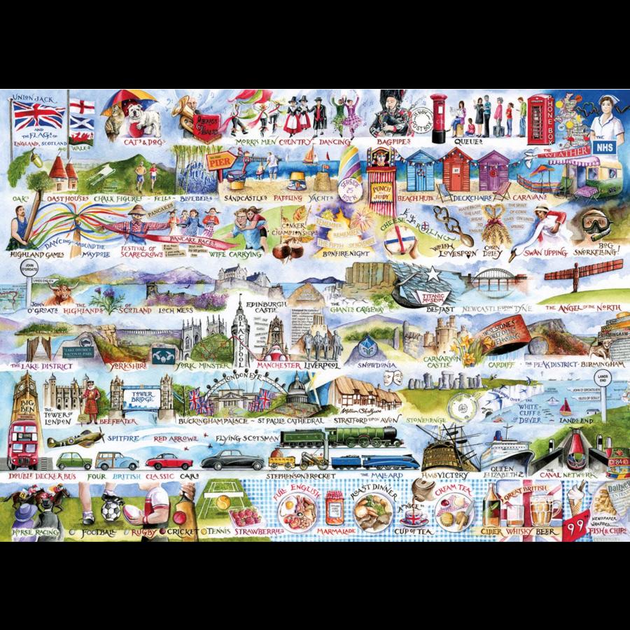 Cream Teas & Queuing - puzzel van 1000 stukjes-2