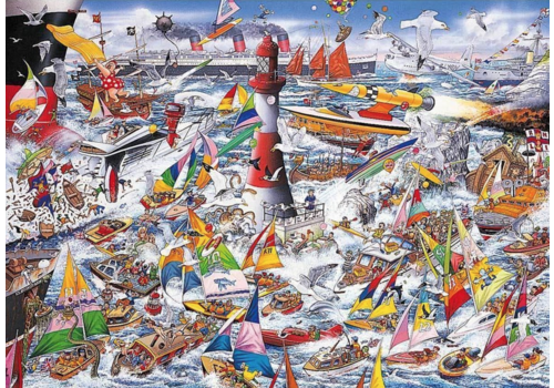Gibsons I Love Boats - 1000 pieces