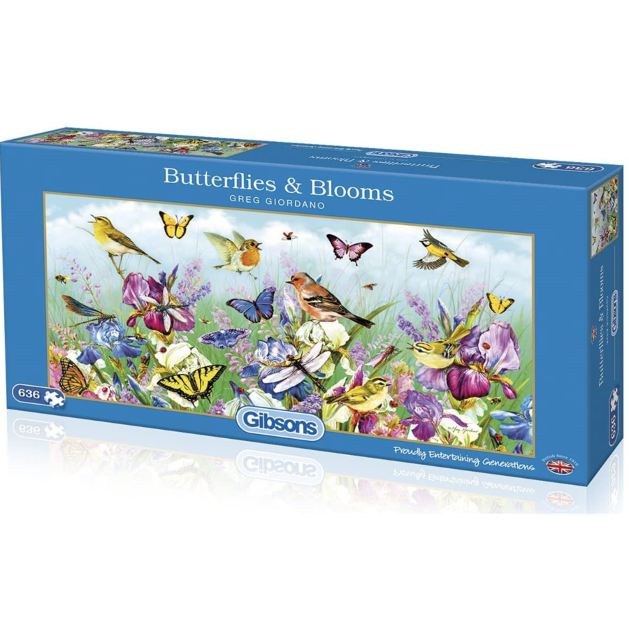 Butterflies & Blooms - puzzel van 636 stukjes-1
