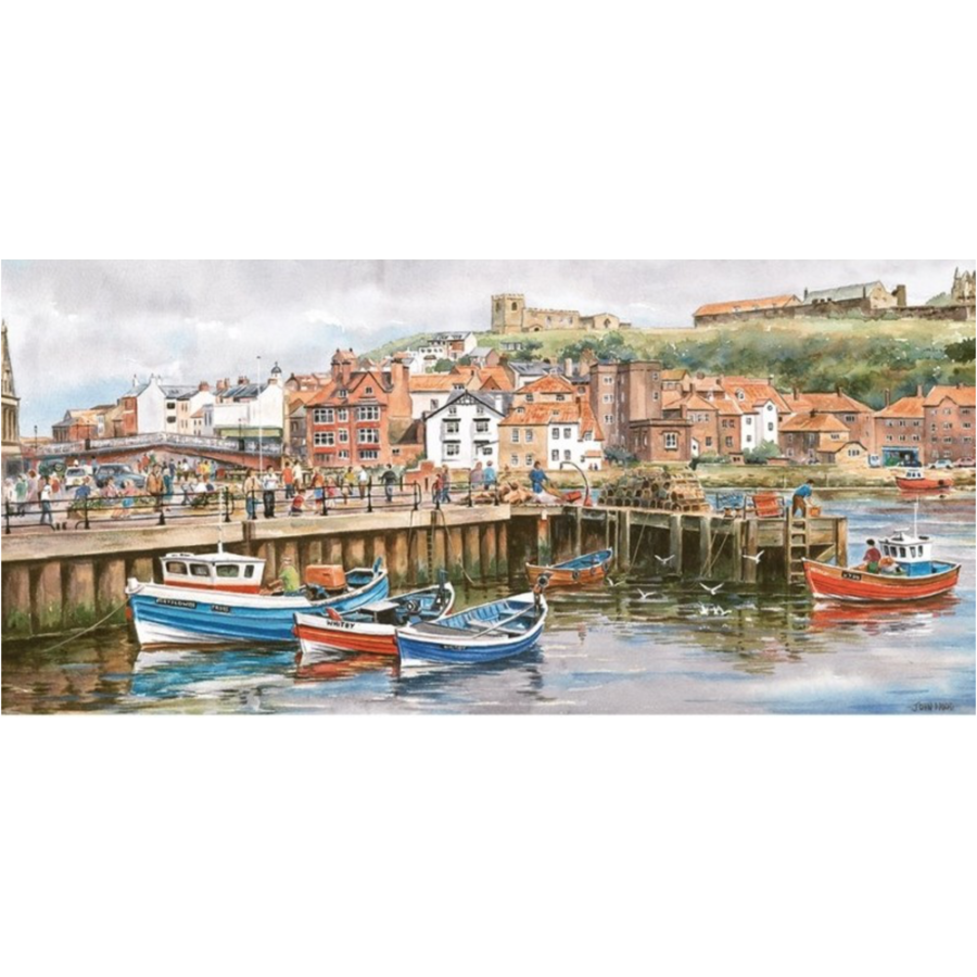 Whitby Harbour - puzzel van 636 stukjes-1
