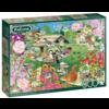 Falcon Oiseaux du jardin d'été - puzzle de 500 pièces