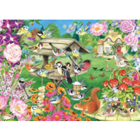thumb-Oiseaux du jardin d'été - puzzle de 500 pièces-2