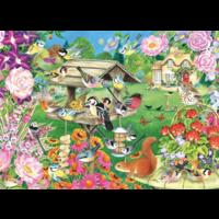 thumb-Zomerse tuinvogels - puzzel van 500 stukjes-2