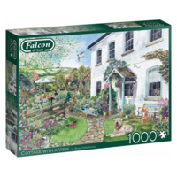 thumb-Cottage met uitzicht - puzzel van 1000 stukjes-1