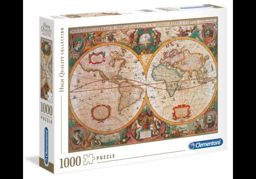 Clementoni Antique World Map - 1000 pièces