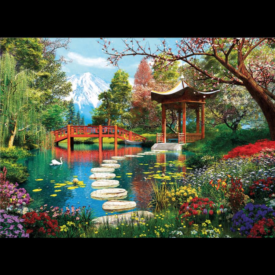 Japanse tuin - puzzel van 1000 stukjes-2