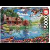 Educa Chalet du lac - puzzle de 5000 pièces