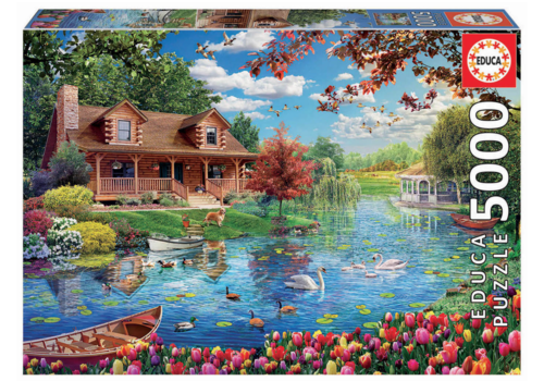 Educa Chalet by the lake - 5000 pieces