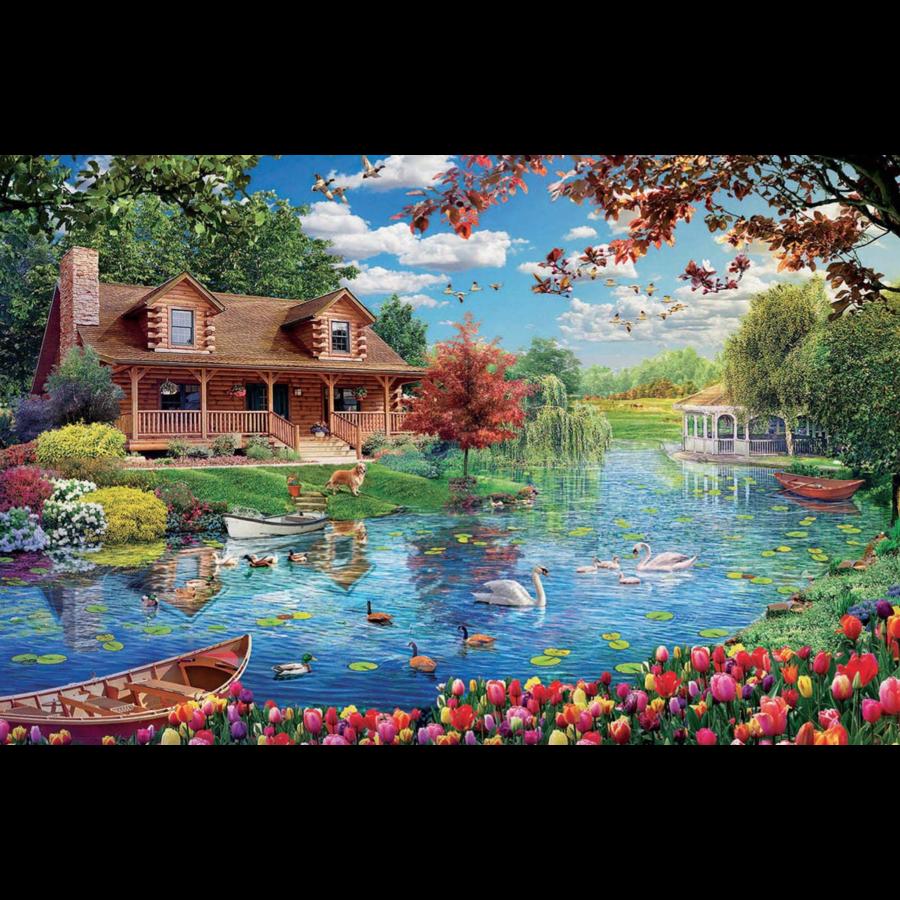 Chalet du lac - puzzle de 5000 pièces-2